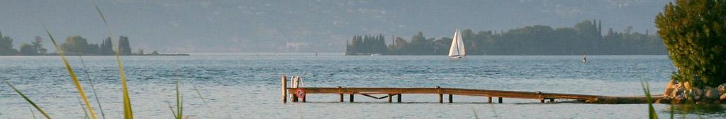 Bild Steg mit Blick auf das Wasser